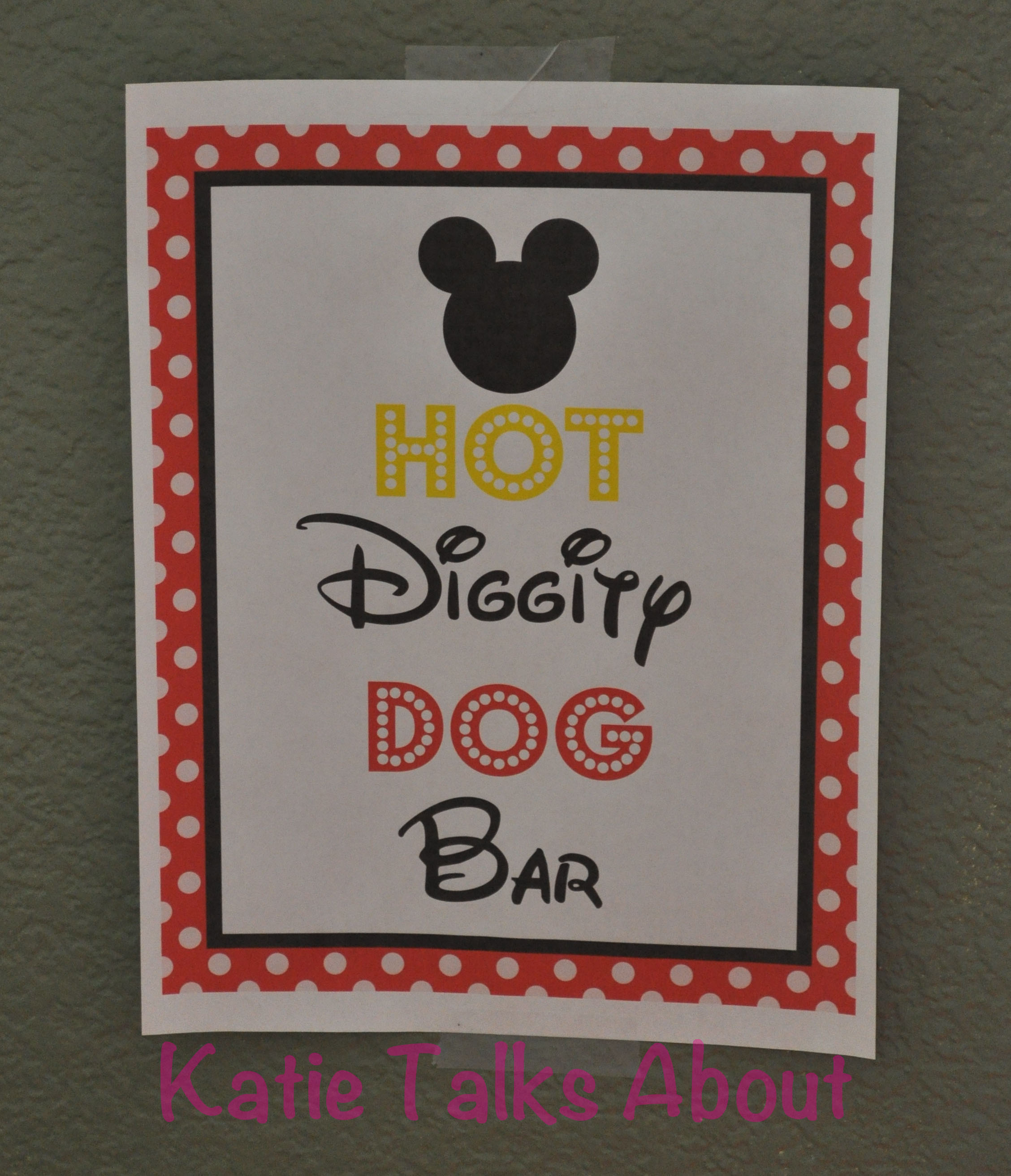 picture regarding Hot Diggity Dog Bar Free Printable called Celebrating our #DisneySide!
