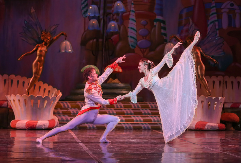 Dana Benton and Jesse Marks in The Nutcracker - photo by Mike Watson