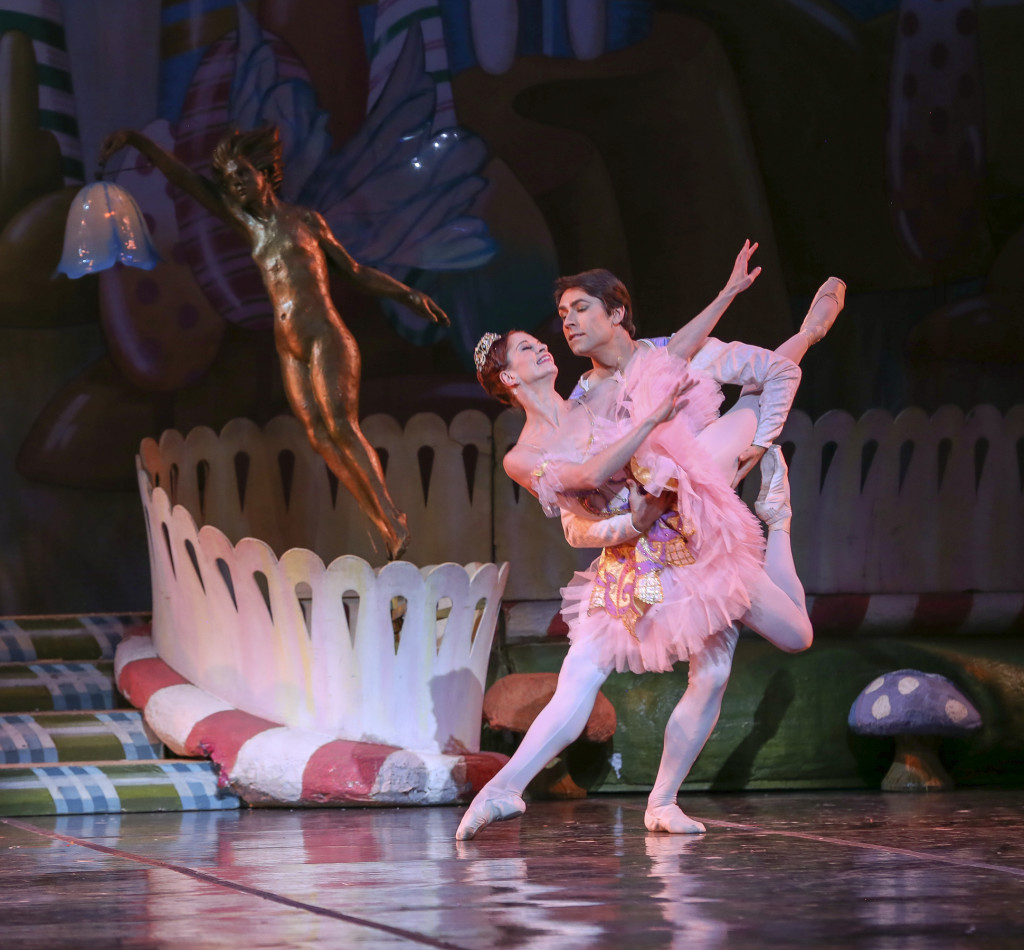 Maria Mosina and Alexei Tyukov in The Nutcracker - Sugarplum Fairy and Cavalier - photo by Mike Watson