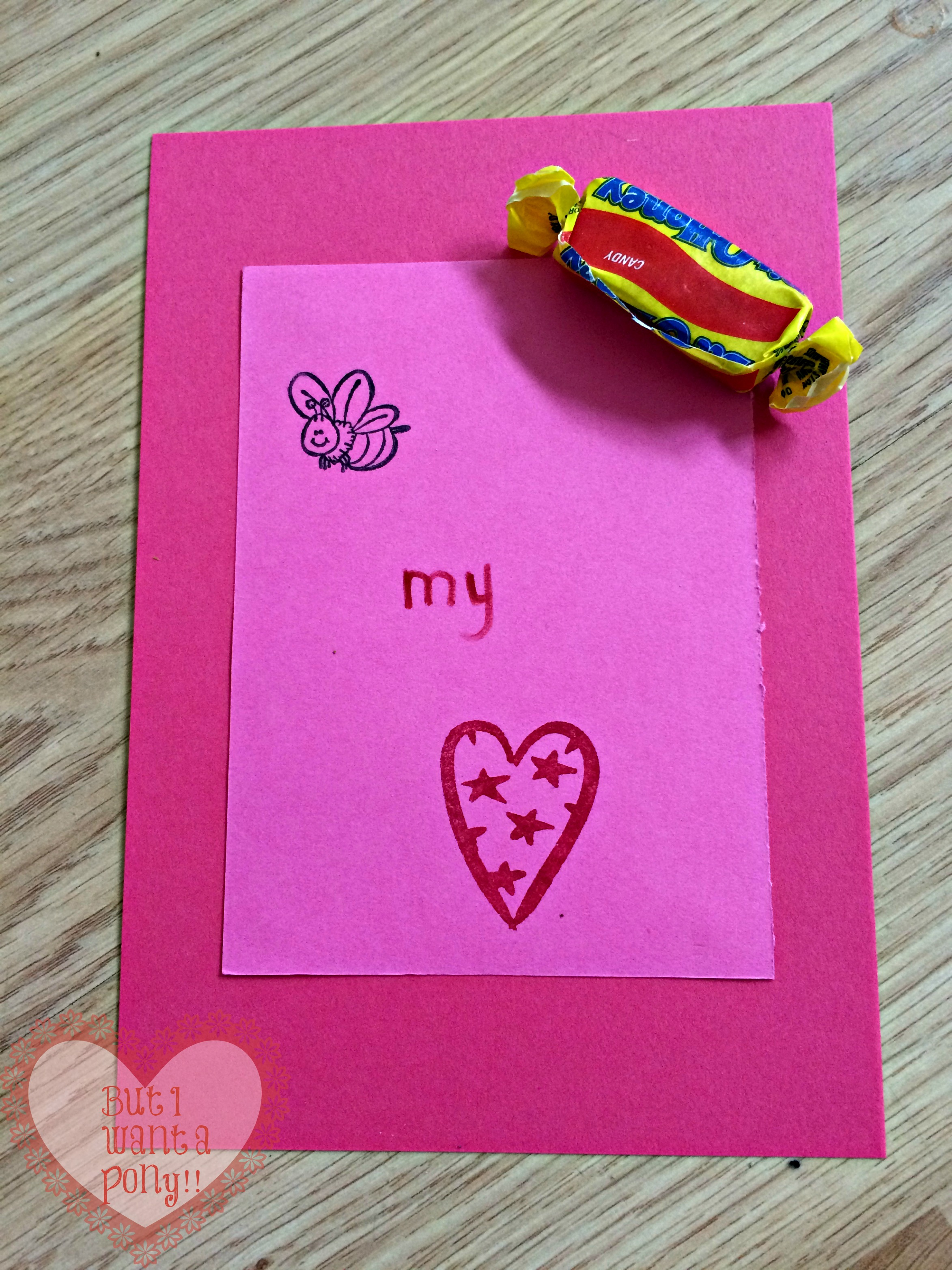 Krafty Katie  Easy Valentine card craft  But I want a pony