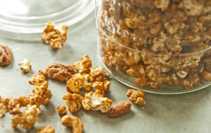 sweet and smokey popcorn nut mix