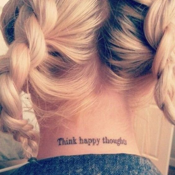 Tattoo Quotes Positive Thinking: Disney Inspired Tattoos